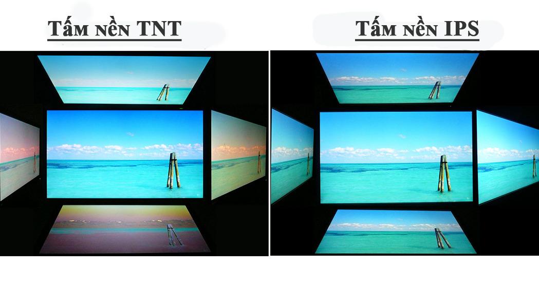 So sánh tấm nền TN và IPS