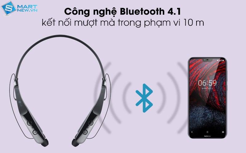 khoảng cách kết nối tai nghe hbs 510